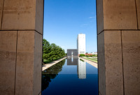 Oklahoma City National MemorialThe Reflection Pool symbolizes the minute the bomb exploded.